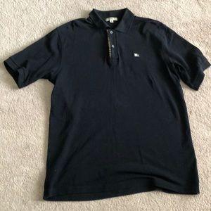 Men's Burberry Polo Shirt Black size Medium
